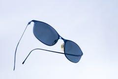 Black wommen sunglasses on isolated white background Stock Image