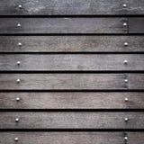 Black wood barn plank rough grain surface Royalty Free Stock Photography