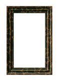 Black wood frame with stars Stock Photo