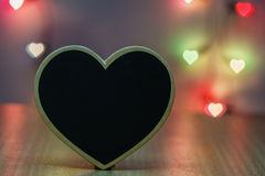 Black wood heart Royalty Free Stock Photography