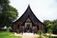 Black wood house. In Thailand Stock Photography
