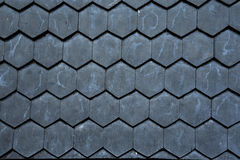 Black Wood Roof tile texture background Royalty Free Stock Photography