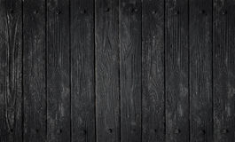 Black wood texture. background old panels. In high detailed photo Royalty Free Stock Photography