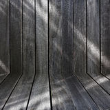 Black wood wall Stock Images
