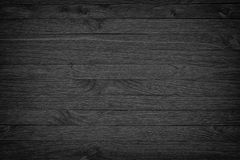 Black wooden background or gloomy wood grain texture Royalty Free Stock Images