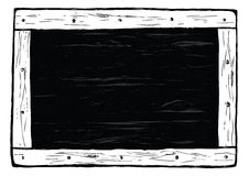 Black wooden board Royalty Free Stock Images