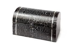 Black wooden box Royalty Free Stock Photography