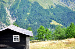 Black wooden cabin Royalty Free Stock Photos