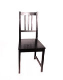 Black wooden chair Royalty Free Stock Photos