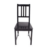 Black wooden chair Stock Photography