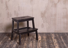 Black wooden chair in interior room Stock Photo