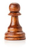 Black wooden chess pawn on the white background Royalty Free Stock Photos