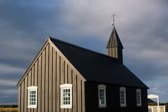 Black Wooden church Royalty Free Stock Images