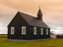 Black wooden church Stock Photos