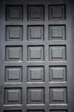 Black wooden doors Stock Photo