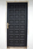 Black wooden doors Royalty Free Stock Photography