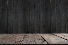Black wooden floor texture background. Royalty Free Stock Photo