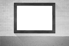 Black wooden frame with white copy space hanging Stock Photos