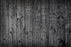 Black Wooden Grunge Background Stock Images