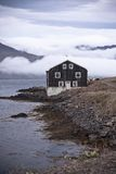 Black Wooden House in East Iceland Stock Photo