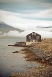 Black Wooden House in East Iceland Stock Photography