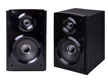 Free Black Wooden Loudspeaker Isolated Royalty Free Stock Photos - 13547758