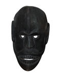 Black Wooden Mask Stock Image