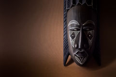Black wooden mask Royalty Free Stock Photo