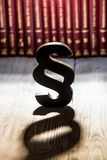 Black wooden paragraph the symbol of law Stock Photos