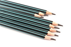 Black wooden pencils Stock Images
