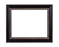 Black wooden picture frame Royalty Free Stock Images