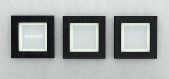 Black wooden picture frames Royalty Free Stock Photos