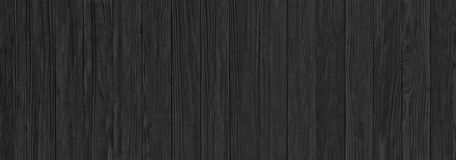 Black wooden planks, a panorama of the wood texture with natural. Wooden texture, black wood panel as background Royalty Free Stock Image