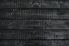 Black wooden planks Royalty Free Stock Image