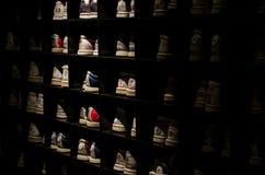 Black Wooden Shoe Rack Stock Photos