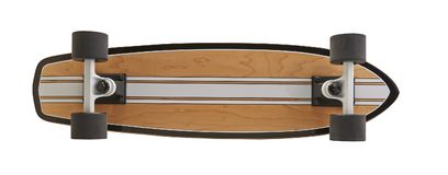 Black and wooden skate board isolated. On a white background with clipping path royalty free stock photo