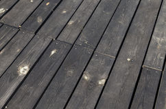 Black wooden surface Stock Photo