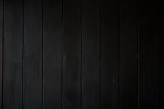 Black wooden wall. A black wooden wall, a blank space for writing Stock Photography