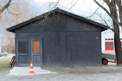 Black wooden workshop Stock Image