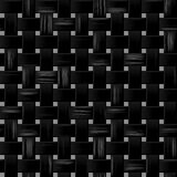 Black woody rattan weave seamless pattern texture background Royalty Free Stock Image