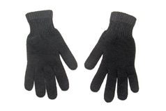 Black wool gloves Royalty Free Stock Photography