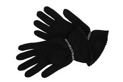 Black wool gloves Royalty Free Stock Photos