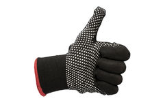 Black work gloves isolated Stock Photo