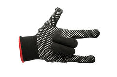 Black work gloves isolated Royalty Free Stock Photo