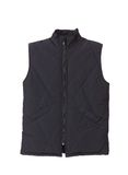 Black working winter vest. Stock Photos