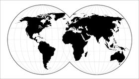 Black world. Highly detailed map of the world Royalty Free Illustration