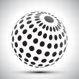 Black world globes with shadows - vector. Black world globes with shadows – stock vector Vector Illustration