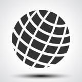 Black world globes with shadows - vector. Illustration stock illustration
