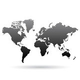 Black World Map Royalty Free Stock Photography