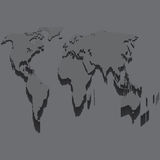 Black World Map Illustration . Stock Images